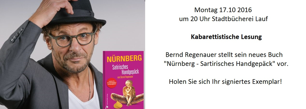 Kabarettistische Lesung am 17.10.2016  20 Uhr Stadtb�cherei